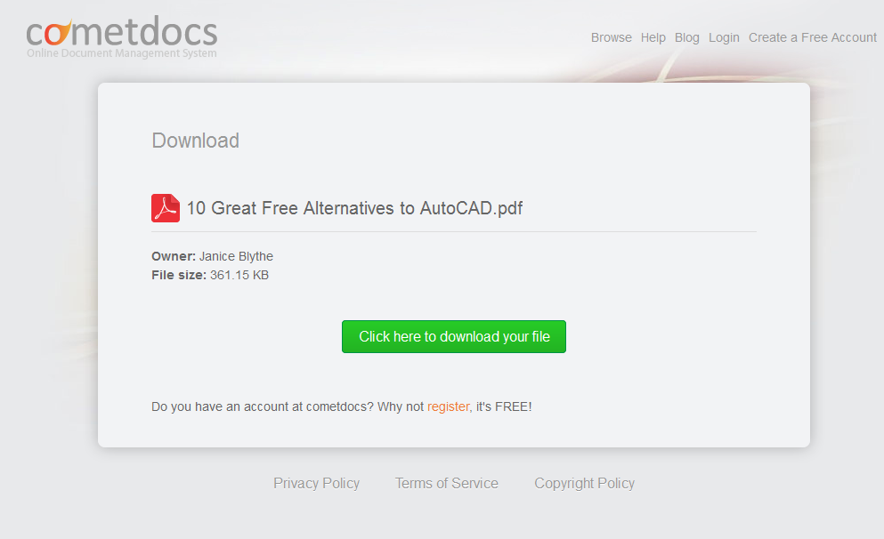 10 Great Free Alternatives to AutoCAD Introducing the New Cometdocs