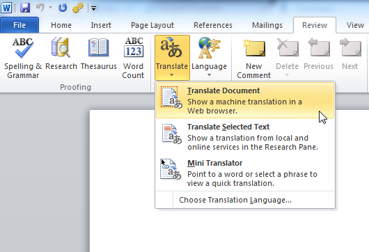 english to spanish document translation services