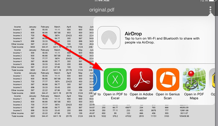 convert pdf to excel on ios mobile Free PDF to Excel converter for iPad and iPhone