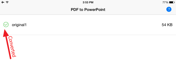 converted document Free PDF to PowerPoint converter for your iPad or iPhone