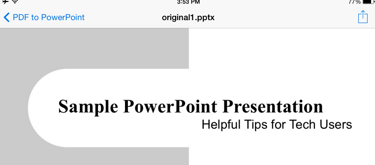 converted presentations1 Free PDF to PowerPoint converter for your iPad or iPhone