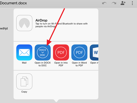 docx to doc or the opposite How to convert a Google document to docx format on your iPad and vice versa