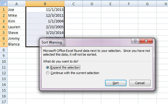 How do you reorder data on Microsoft excel?