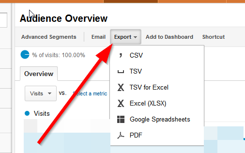 export google analytics How to create PDF and Excel reports in Google Analytics?