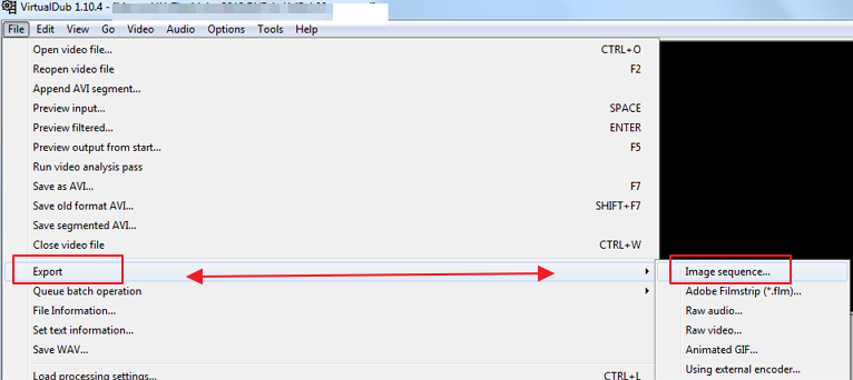 export video as an image sequence How to convert Video to Images