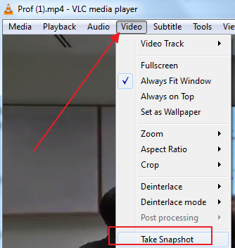 extract snapshot How to convert Video to Images