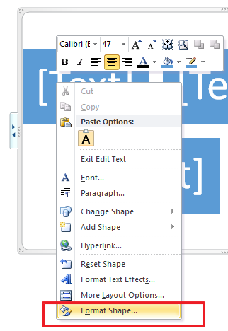 format shape Working with SmartArt Graphics in Microsoft Office