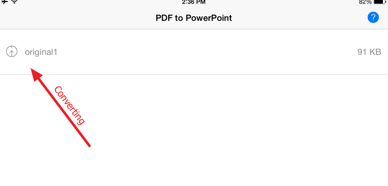 image is converting Free PDF to PowerPoint converter for your iPad or iPhone