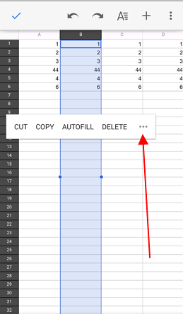 more options in google sheets