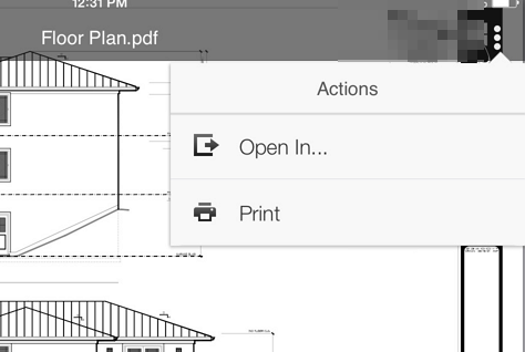 open in file Convert AutoCAD designed PDF drawings to .dwg format on your iPad or iPhone