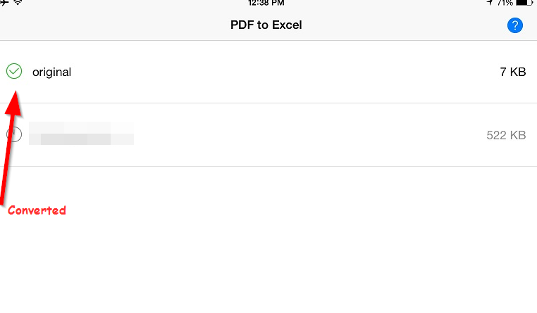 pdf to excel converted succesfully1 Free PDF to Excel converter for iPad and iPhone