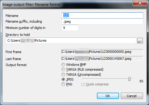 png and jpg images format How to convert Video to Images