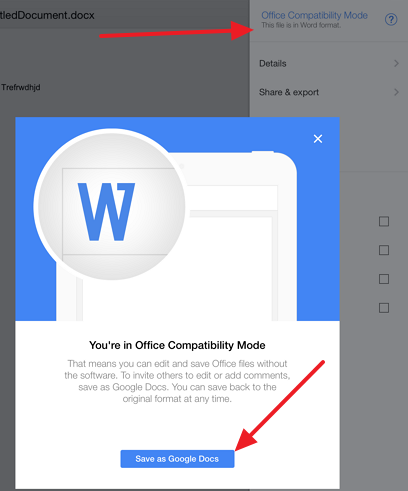 save as google docs How to convert a Google document to docx format on your iPad and vice versa