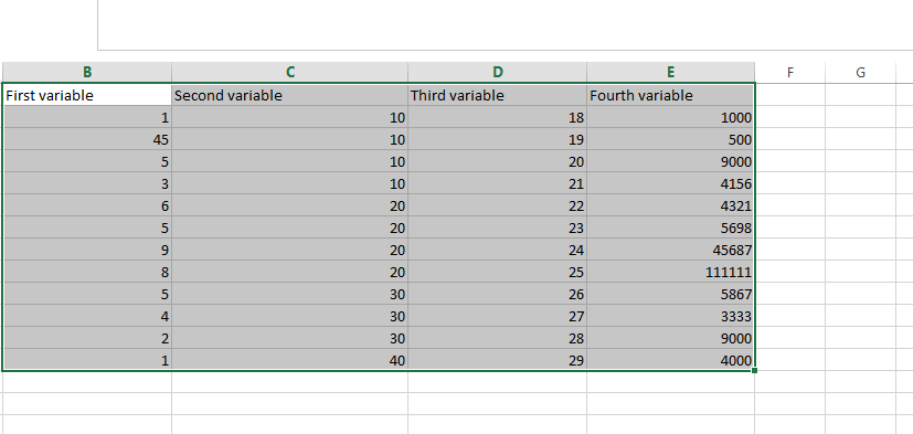 selection of variables in excel Linear Regression Analysis in Excel