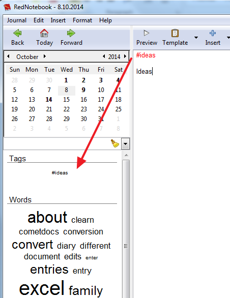 tags in rednotebook Keep a Journal on Your Computer and Convert It to PDF