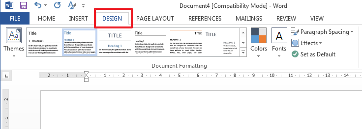 themes in word 2013 How to Modify or Create a New Style in Microsoft Word 2013?